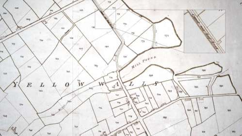 "1851 Map Showing ""Canal and Half Road"" - click to enlarge"