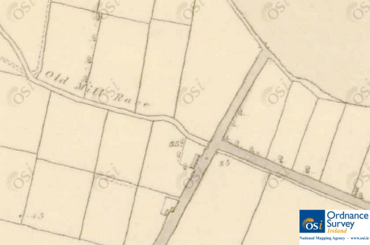 Old Mill Race, mid-19th Century. © Ordnance Survey Ireland/Government of Ireland.7
